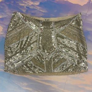 Haute hippie small sequin mini skirt